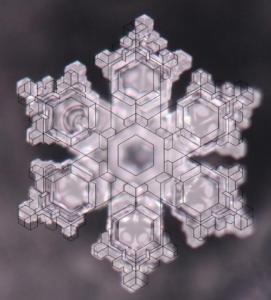 Kryształ z naniesioną siatką